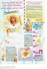 PUBLICITE ADVERTISING 126  1992  Club Barbie  poupée