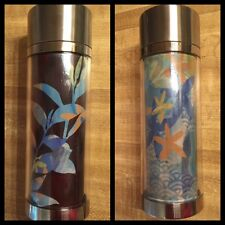 Starbucks Coffee 2009 Color Change Stainless Steel Travel Thermos Ceramic Liner