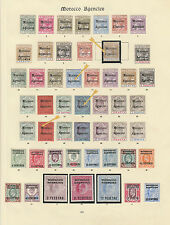 MOROCCO AGENCIES 1898-1907 QV and KEVII fresh mint collection on two pages,