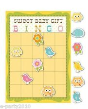 HAPPI TREE OWL BINGO GAME ~ Baby Shower Party Supplies Gift Favors Decorations