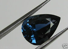 GIA CERT 6.24 CT NATURAL BLUE SAPPHIRE, PEAR, UNHEATED, UNTREATED - RARE!!