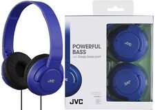 JVC HAS180 BLUE Lightweight Powerful Deep Bass Headphones Original / Brand New