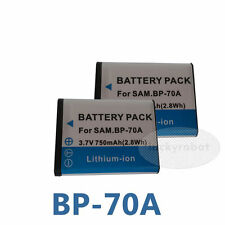 2X Battery For Samsung BP70A SL50 SL600 SL630 TL105 AQ100 WP10 ES65 TL205
