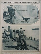 1917 A B INGLESON DSM HMS BROKE AND SHIP'S DOG BRIP WWI WW1