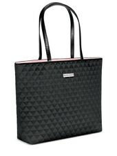 Ralph Lauren Women's Black Quilted Tote Bag Purse Overnight Travel Bag.New