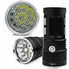 25000LM SKYRAY 10 x CREE XM-L T6 LED Flashlight Torch 4 x 18650 Hunting Lamp