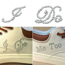 1 Set White Rhinestone Stickers I Do Me Too Bridal Groom Wedding Fashion Decals