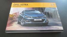 Opel Astra J Betriebsanleitung NEU Bedienungsanleitung Ausgabe 2013 OPC / Turbo
