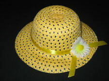 """NEW """"YELLOW DAISY"""" Dress Up Party Girls Easter Straw Hat Clothes Toddler Kid Tea"""