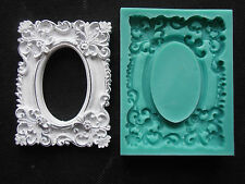 Silicone Mould FRAME RECTANGULAR Sugarcraft Cake Decorating Fondant / fimo mold