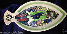 "JIE GANTOFTA FISH ANITA NYLUND JANSSONS FRESTELSE 16"" OVAL FISH SHAPED PLATTER"