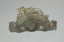 Scarce Chinese Lavender Jade Amulet Sculpture Jin Dynasty