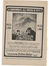 Pubblicità epoca PATHE'-BABY CAMERA FOTO PHOTO advert werbung publicitè reklame