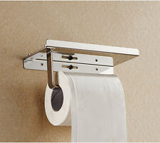 Polished Chrome Stainless Steel Bathroom Toilet Paper Holder Tissue Roll Bar