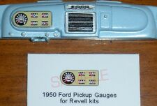 1950 FORD PICKUP GAUGE FACES!! -1/25 scale- for REVELL KITS