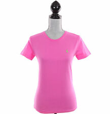 Ralph Lauren Sport Women Crew-Neck Solid Tee T-Shirt Top Pony - Free $0 Ship