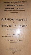 Lefebvre, Georges**** Questions agraires au temps de la terreur.