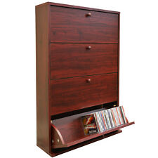 200 CD Media Storage Cabinet - MAHOGANY - MS0014