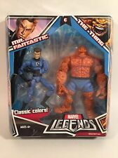 "2008 MARVEL LEGENDS FANTASTIC FOUR 2 PACK MR. FANTASTIC & THE THING 6"" FIGURES"