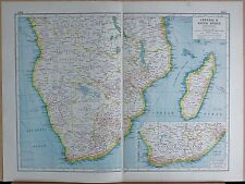 1920 MAP -POST WW1- CENTRAL & SOUTH AFRICA, INDUSTRIAL