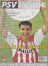 Programme / Magazine PSV Inside September 2000 4e jaargang no.1