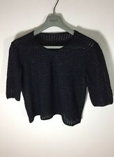Louis Vuitton Cashmere Blend Metallic Transparent Blouse Sweater Large