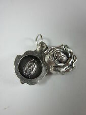 Our Lady of Guadalupe / Jesus Divine Mercy Locket Style Rose Slide Medal Italy