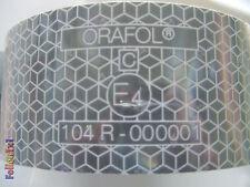 1 m x 51 mm LKW Konturmarkierung ECE 104, weiß,selbstklebend,stark reflektierend