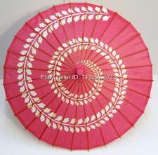 PINK Japanese Swirl Oriental Paper Party Outdoor Decoration Parasol Sun Umbrella