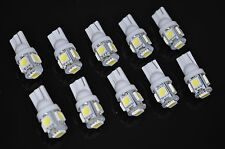 USA SELLER 10pcs Xenon White T10 Wedge 5-SMD 5050 LED Light bulbs 194 168 2825
