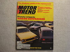 Motor Trend 1976 March Ford Mercury porsche 924 Masserati Jeep CJ-7 Gremlin X