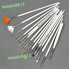 15pcs Nail Art Gel Design Pen PaInting Polish Brush Dotting Drawing Tool Set New