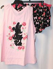 NEW WOMENS PLUS SIZE 3X PINK MINNIE MOUSE 2PC SLEEP PAJAMA SET TANK TOP & BOXERS