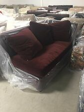 Pottery Barn PACIFIC Deep Sofa Chair SECTIONAL Left Arm Chaise Cordovan Velvet