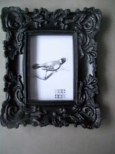 SIXTREES PICTURE FRAME BLACK MATTE NWT BAROQUE ORNATE 4X6'' PHOTO TABLE TOP