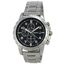 Fossil Dean FS4542 Chronograph Stainless Steel Black Dial Mens Watch