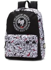Vans Off The Wall 101 Dalmations Disney Backpack Travel Bag NWT Authentic Sk8