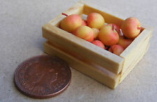 1:12 Scale Crate Of 12 Cox's Apples Dolls House Miniature Fruit Garden Accessory