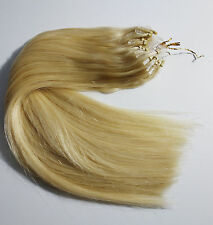 "Double Drawn 1G 16"" 18"" 20"" 22"" 24"" Micro Ring  Easy Loop Human Hair Extensions"
