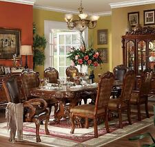 NEW FORMAL TRADITIONAL 7PC DRESDEN BROWN CHERRY FINISH WOOD DINING TABLE SET