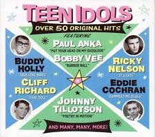TEEN IDOLS - OVER 50 ORIGINAL HITS (NEW SEALED 2CD)