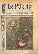 Portrait Extase Saint François d'Assise Tableau de Murillo WWI 1917 ILLUSTRATION