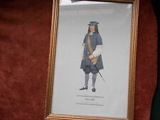 MILITARY FRAMED PRINT  BY P H SMITHERMAN (hugh evelyn print)(officer 1669)