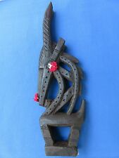"""HAND-CRAFTED SCULPTURE CARVING FROM MALI AFRICAN ETHNIC TRIBAL SYMBOL """"CHIWARA"""""""