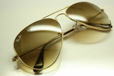 New RAY BAN Aviator Sunglasses Gold Frame RB 3025 001/51 Gradient Brown 58mm