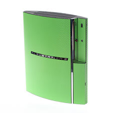 Textured Green Carbon Fibre PlayStation PS3 Fat decal skin  cover wrap
