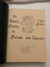 1986, The Annala Family in Finland and America 350 years 1635-1985, Genealogy