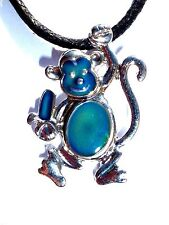 NEW Monkey Color Change Heat Thermo Mood Pendant Necklace