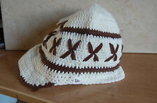 NEW ERA WOMAN'S ONE SIZE   BEANIE HAT COLOUR CREAM/BROWN