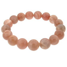 Elasticated Beaded Stretch Bracelet with Real Stone - Moonstone, Touch Jewellery